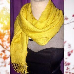 Large mustard yellow scarf NWT
